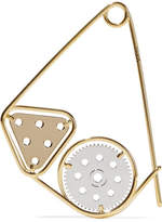 Loewe Gold And Silver-plated Brooch - one size