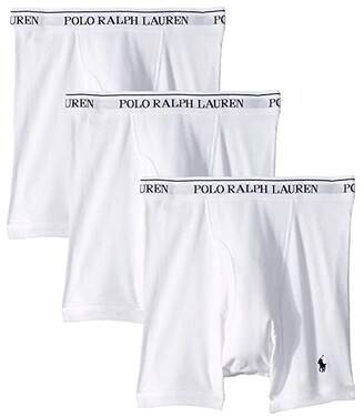 Polo Ralph Lauren Classic Fit w/ Wicking 3-Pack Boxer Briefs (Cruise Navy/RL2000 Red/Cruise Navy All Over Pony Player/White) Men's Underwear