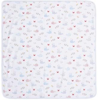 Kissy Kissy Whale Print Blanket