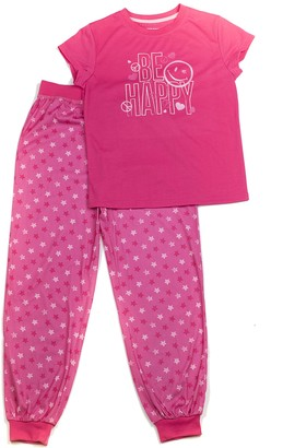 Joe Boxer Big Girl's Be Happy PJ Set Sleepwear