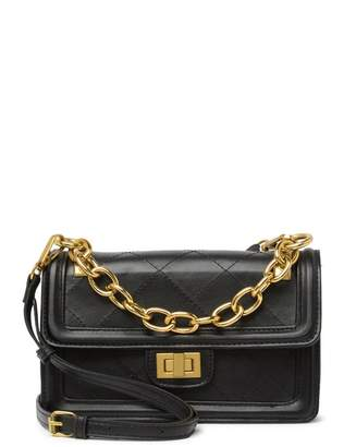 Pink Haley Lilah Chain Faux Leather Crossbody