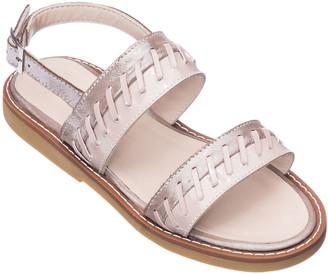 Elephantito Girls' Larissa Stitched Leather Sandals, Toddler/Kids