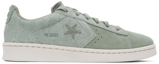 Converse Green Suede Pro Leather OX Sneakers