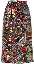 Holly Fulton printed straight skirt - women - Cotton - 10