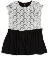 Design History Girl's Lace-Paneled Top