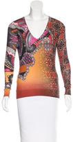 Etro Silk & Cashmere-Blend Paisley Sweater