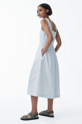 Cos Sleeveless Cotton Midi Dress