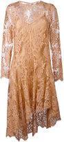 Zimmermann asymmetric lace dress - women - Cotton/Polyamide - 2