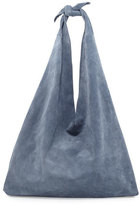 The Row Bindle Knot Suede Hobo Bag, Topaz Blue
