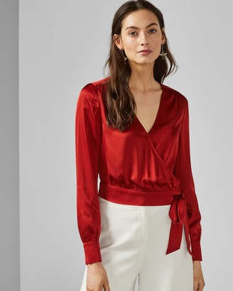 Ted Baker Cropped Wrap Top