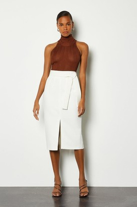 Karen Millen Multi Stitch Midi Pencil Skirt