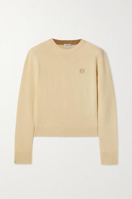 Loewe Embroidered Wool Sweater - Pastel yellow