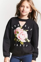 FOREVER 21 girls Girls Graphic Sweatshirt (Kids)