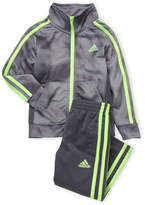 adidas Toddler Boys) Two-Piece Printed Tricot Track Jacket & Pants Set