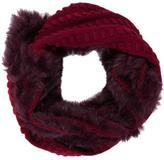 Diane von Furstenberg Wool Cashmere-Blend Delila Popcorn Fur Circle Scarf