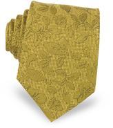 Forzieri Floral Pattern Woven Silk Men's Tie