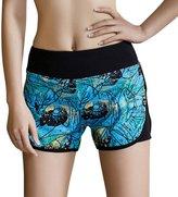 WeiYin Women's Yoga Workout Shorts Exercise Mini Hot Shorts S
