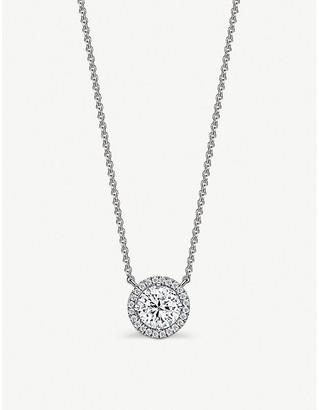 Vashi Halo 18k white-gold and 0.5ct diamond necklace
