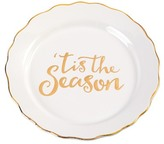 Mud Pie White Tis the Season Plate