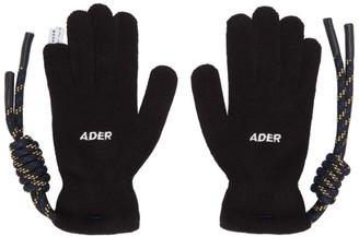 Ader Error Black Crumple Gloves