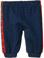 Gucci Kids Felted Cotton Jersey w/ GG Trim Joggings (Infant) (Prussian Blue) Boy's Casual Pants