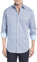 Thomas Dean Men's Classic Fit Two-Tone Microcheck Sport Shirt