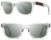 Shwood Men's 'Canby' 54Mm Acetate & Wood Sunglasses - Crystal/ Elm/ G15
