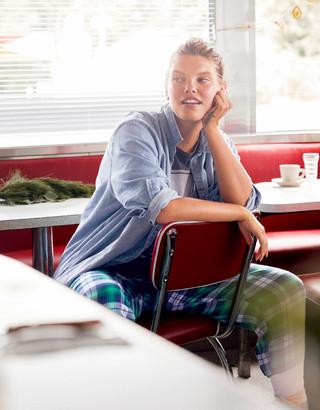 aerie Chambray Long Sleeve Boyfriend Shirt