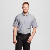 Merona Men's Big & Tall Short Sleeve Button Down Shirt Gray