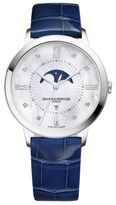 Baume & Mercier Classima 10226 Moonphase Diamond, Mother-Of-Pearl, Stainless Steel & Patent Alligator Strap Watc