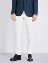 Corneliani Slim-fit tapered cotton trousers