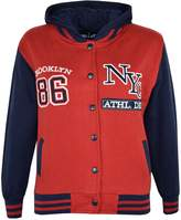 a2z4kids Kids Girls Boys Baseball NYC ATHLETIC Hooded Jacket Varsity Hoodie Age 7-13 Year