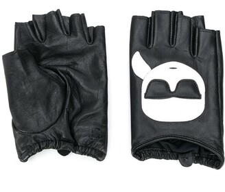 Karl Lagerfeld Paris K/Ikonik fingerless gloves