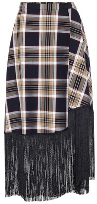 Rokh Checked midi skirt