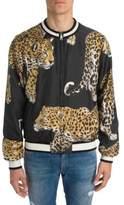 Dolce & Gabbana Leopard Silk Bomber Jacket