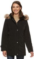 Gallery Women's Hooded Faux-Fur Stadium Jacket