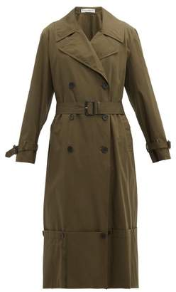 J.W.Anderson Extendable Hem Cotton Trench Coat - Womens - Green