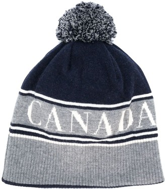 Canada Goose logo pompom beanie