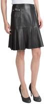 Barbour International Shadow Leather Short Flip Skirt (For Women)