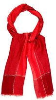 Loro Piana Red Raw-Edge Scarf