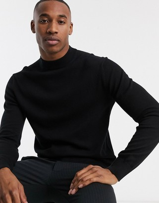 French Connection organic cotton turtleneck in black