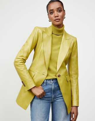 Lafayette 148 New York Glazed Weightless Lambskin Royer Blazer