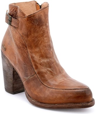 Bed Stu Heeled Leather Western Ankle Booties - Isla