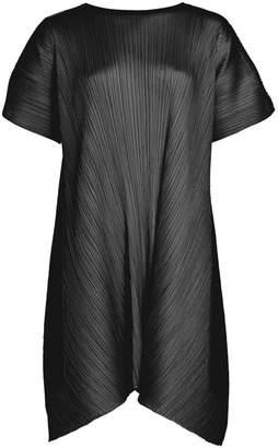 Pleats Please Issey Miyake Overlapped Tie Back Short Dress