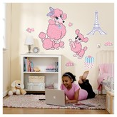 BuySeasons Pink Poodle in Paris Giant Wall Decal
