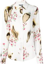 Moschino burned effect floral shirt