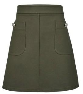 Dorothy Perkins Womens Petite Khaki Mini Skirt
