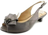 J. Renee Jadan Women Peep-toe Synthetic Gray Slingback Heel.