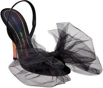 Marco De Vincenzo Maxi Tulle Bow 115 Patent Sandal
