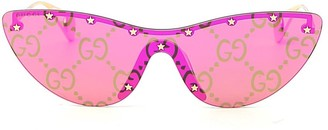Gucci Star Embellished Cat-Eye Sunglasses